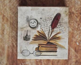 Retro Design Notepad Box, Hardcover