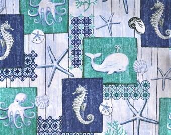 CUSTOM MEN'S BOXERS, Nautical Print, Sealife, Octopus, Whale, Starfish, Seahorse, Choose Size