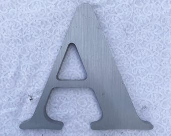 """A 12"""" metal sign letter"""
