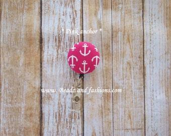 Mini Anchors badge fabric reel Holder 3 colors u pick pink blue gray