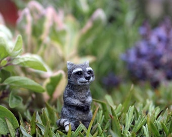 Fairy Garden  - Moe The Raccoon - Miniature