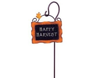 Fairy Garden  - Harvest Sign with Hook - Miniature