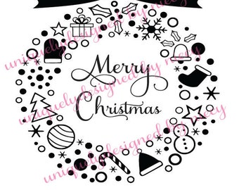Christmas Ornament Svg  file...Instant Download