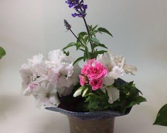 Ceramic Ikebana vase/flower vase/candleholder/candy bowl