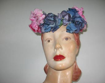 1940's Floral Crown, a New York Creation!