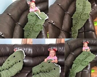 Dinosaur Inspired Blanket, sack blanket, afghan