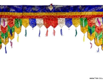 TOP OF DOOR decoration Tibetan Buddhist meditation temple pan3 door