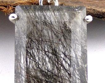 PENDANT QUARTZ RUTILE in quartz, rutil quartz jewelry, gem stone pendant natural care minerals GH45