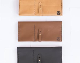 Tan - Leather Travel Wallet - Ultimate Travel Wallet - Leather Travel Organizer - DIY Kit - Craft Kit - Crafts - Full Grain Leather