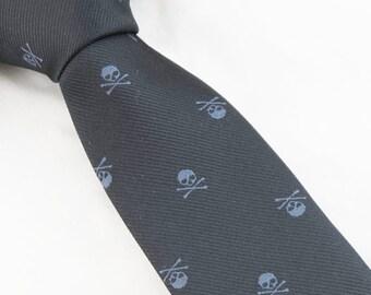 Mens Skull Necktie,Black Skull Tie,Skulls Necktie,Mens Necktie,Mens Grooming,Personalized Wedding Tie,Tie for Party,Tie for wedding Gifts