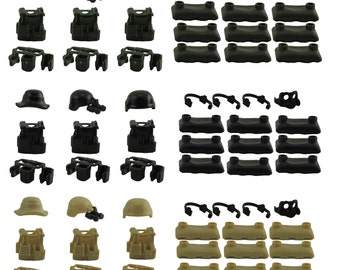 Custom Weapons Pack Armor Army Weapons Compatible For Lego Minifigures Military Guns