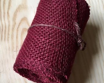 Burgundy / Maroon Burlap Roll
