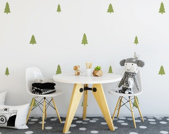 Tree Wall Decals - Woodland Nursery Decals, Pine Tree Decals, Forest Wall Decals, Kids Wall Stickers