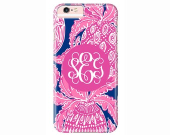 Personalized Lilly Pulitzer Phone Case   iPhone 7, iPhone 7 Plus,  iPhone 6s Plus, iPhone 6, iPhone 5, iPhone 5c, iPod Touch, Galaxy S7 S6