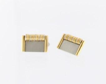 Gio Caroli Designer 18k Yellow Gold Cuff links