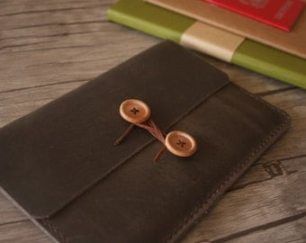 Kindle Paperwhite Sleeve, Kobo Covers, Nook Case, Hand Stitched Leather E-Reader Portfolio, Kobo Glo Covers Case
