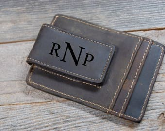 QUANTITY DISCOUNTS, Cowhide leather money clip, personalized leather money clip, personalized cowhide leather money clip, credit card wallet