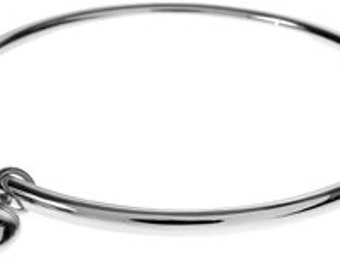 Sterling Silver Bangle Heart Charm