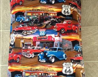 Route 66 print pillowcase