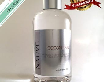 Fractionated Coconut Oil High Quality Pure Organic All Natural Oil by Native.