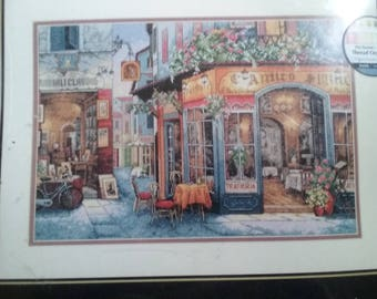 Dimensions Gold Collection European  Bistro 35224 Complete Cross Stitch Kit NIP