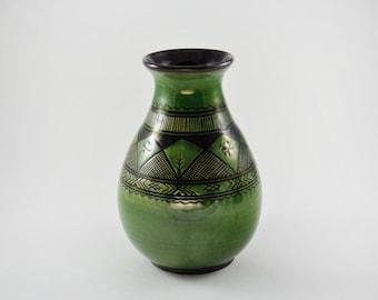 gallerymichel Rare Treimane Val David Latvian Folk Art Sgraffito Vase