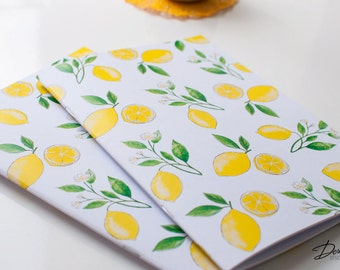 Summer Lemons Notebook with 40 blank pages