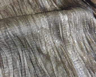 """Iridescent Black and Gold Pleated Tulle, Dense with flow with 2-way stretch, Price is per yard, 54"""" wide"""