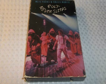 NEIL YOUNG VHS Rust Never Sleeps Video Live Crazy Horse Video cassette tape Cinnamon Girl  Cortez The Killer  Sugar Mountain