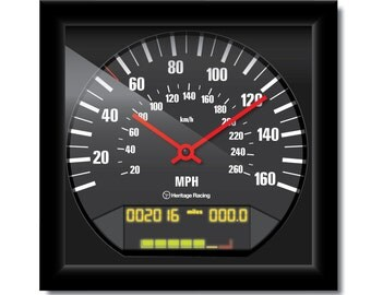 Personalized BMW E36 M3 Speedometer Clock
