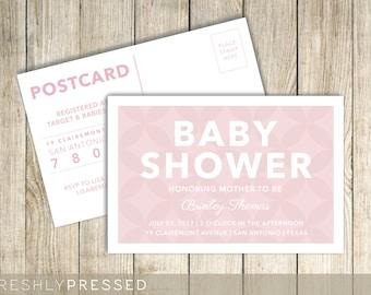 Custom Baby Shower Postcard Invitation