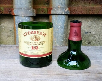 Soy Candle In Waiting, Redbreast 12 Year Irish Whiskey Recycled Bottle
