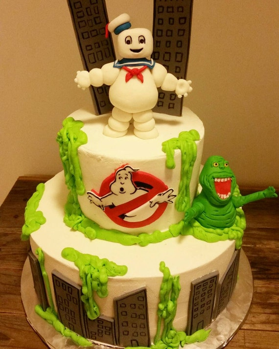 ghostbusters wedding cake handmade fondant ghostbusters inspired cake topper set 14679