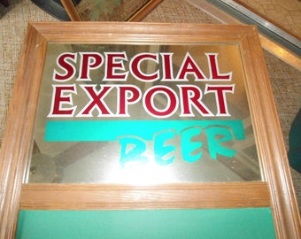 Vintage Special Export Mirror, Wall Mirror, Advertising, Beer Sign, Bar Mirror, Bar Sign, Chalkboard, Gift For Him, Bar Decor,