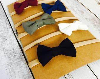 Set of 5 baby girl nylon headbands