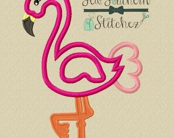 Flamingo Applique ~ Instant Download