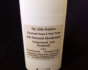 All Natural Cedarwood and Patchouli Deodorant