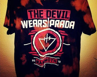 On sale 3 days !the devil wears Prada mammoth t-shirt medium bleached and upcycled in shop by Amanda