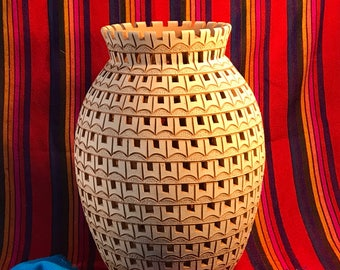 40% OFF. Natural Clay Vase from Oaxaca Mexico. Was 108.00