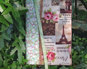 Paris journal cover, book cover, notebook case, book lover gift, travel gifts for women