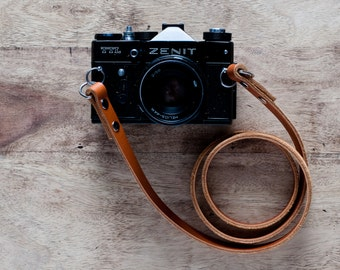 Leather Camera Strap,vintage camera strap,retro camera strap,Nikon camera strap,Canon camera strap,Zenit strap,leather strap,dslr camera