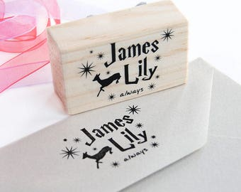 Geeky gift for newlyweds, Harry Potter custom stamp, original wedding gift, Harry Potter stamp, wedding custom stamp, Harry Potter gift idea