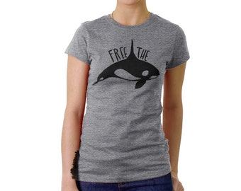 Orca Whale tshirt - FREE THE ORCAS! 2 colors available on sale!