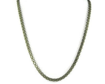 Sterling Silver Bismark Chain Necklace 20 Inches