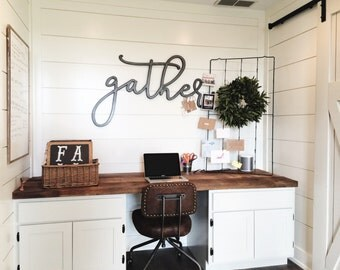 READY TO SHIP Large Metal Gather Sign