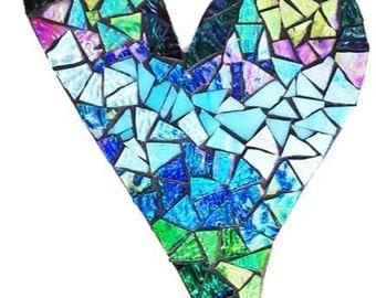 Slanted Mosaic Heart - Earth