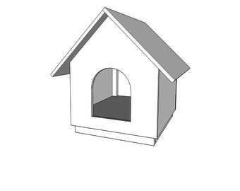 Small Plywood Dog House   - Plywood - Wood Plans - PDF File - Blueprint