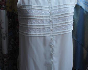 polyester sleeveless blouse REF 575