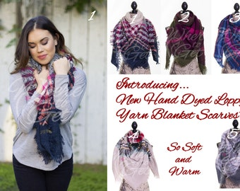 For her, Plaid Blanket Scarf, Oversized scarf, Tartan Scarf, Fall Plaid Scarf, Checker Scarf, ...