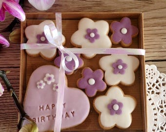 HAPPY BIRTHDAY biscuits - hand baked and decorated